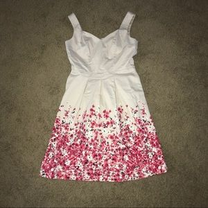 WHBM floral a-line dress